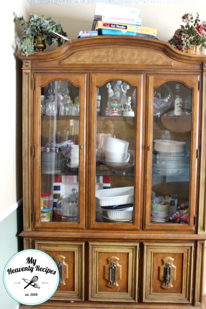 China Hutch Makeover Before