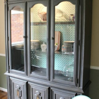 Dining Room China Hutch Makeover