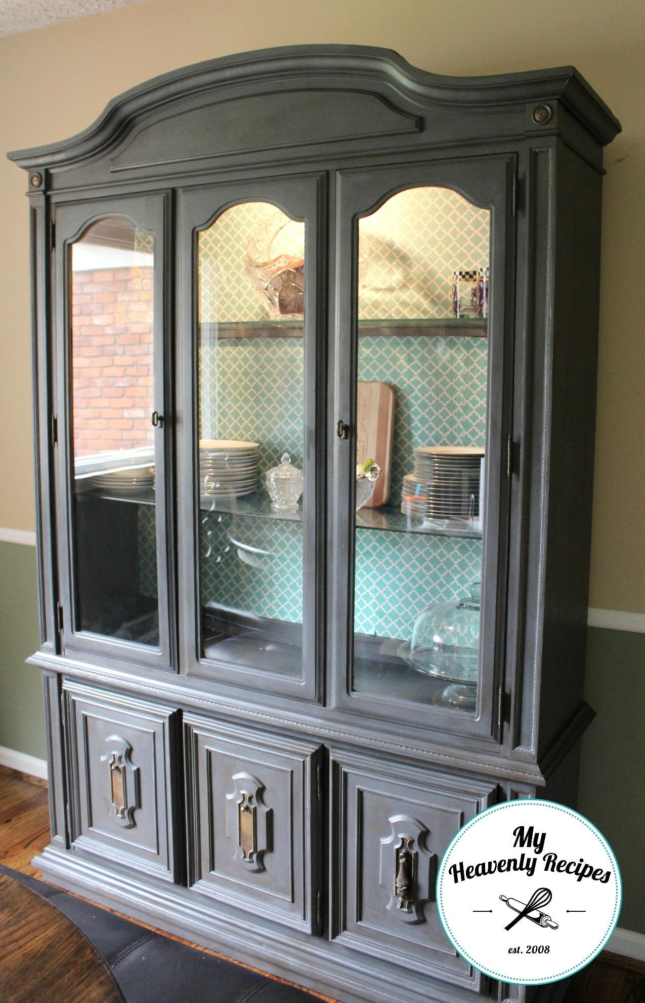 dining room china hutch makeover my heavenly recipes