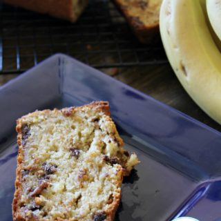 Healthier Banana Bread with Chocolate Chips