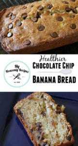 banana bread with chocolate chips pinterest image