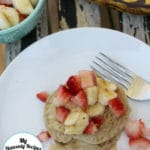 Healthy Banana Pancakes Topped with Fruit