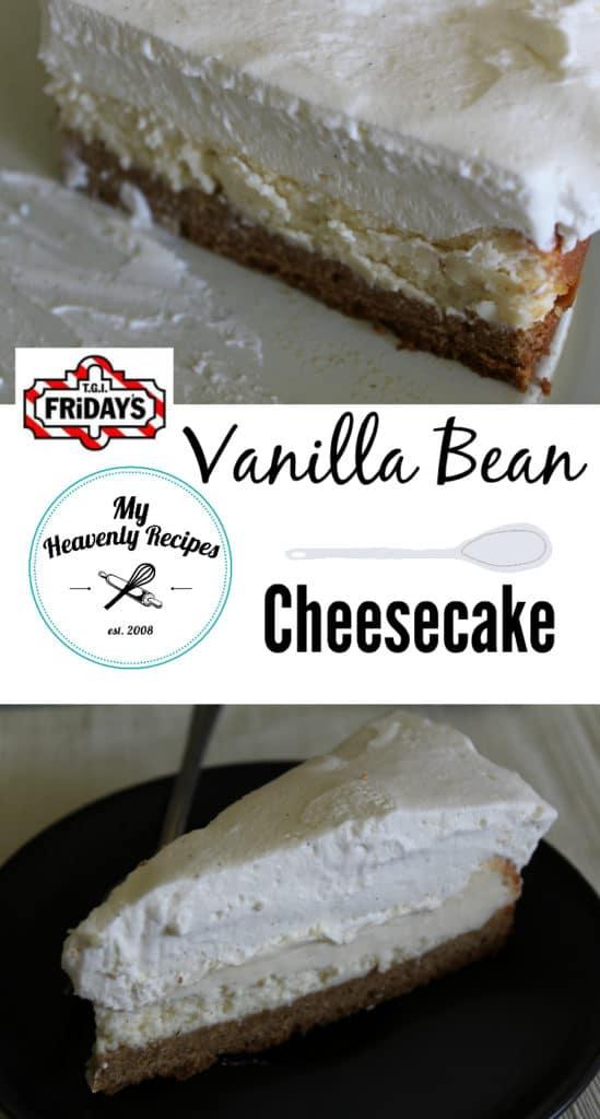 Vanilla Bean Cheesecake Pinterest