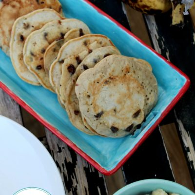 These Healthy Chocolate Chip Pancakes will be your families new favorite pancake recipe.