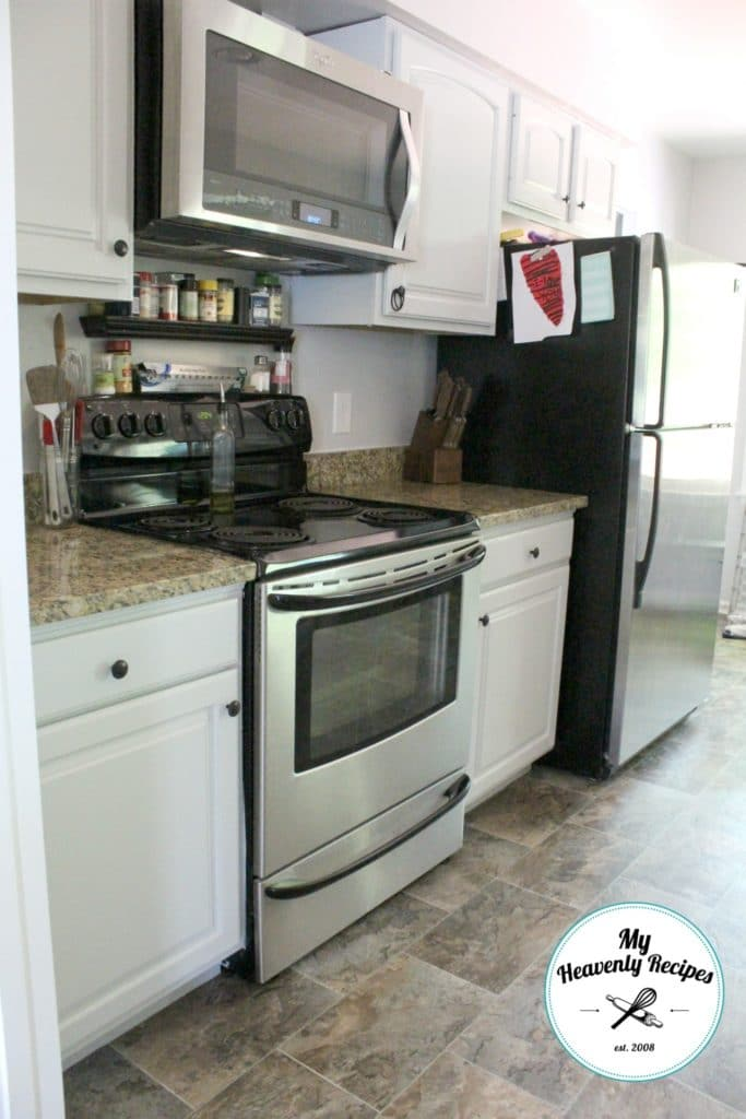 Kitchen Makeover After Stove area