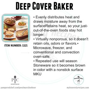 Pampered Chef Deep Cover Baker