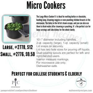 Pampered Chef Micro Cookers