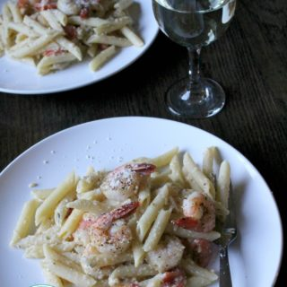 Margherita Shrimp Pasta