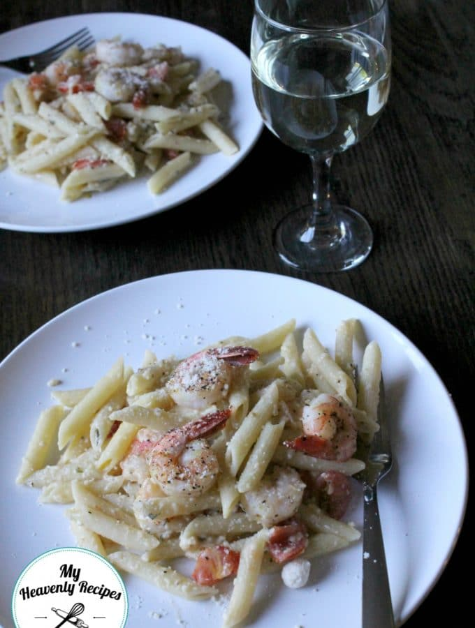 Shrimp Margherita Pasta Dinner for 4