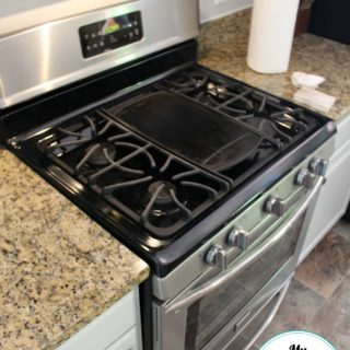 How We Keep Our Kitchen Clean {and My New To Me Gas Range}
