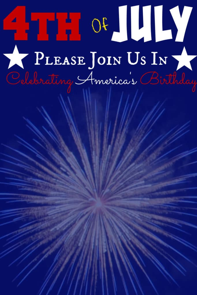 4th of July Fill In Printable
