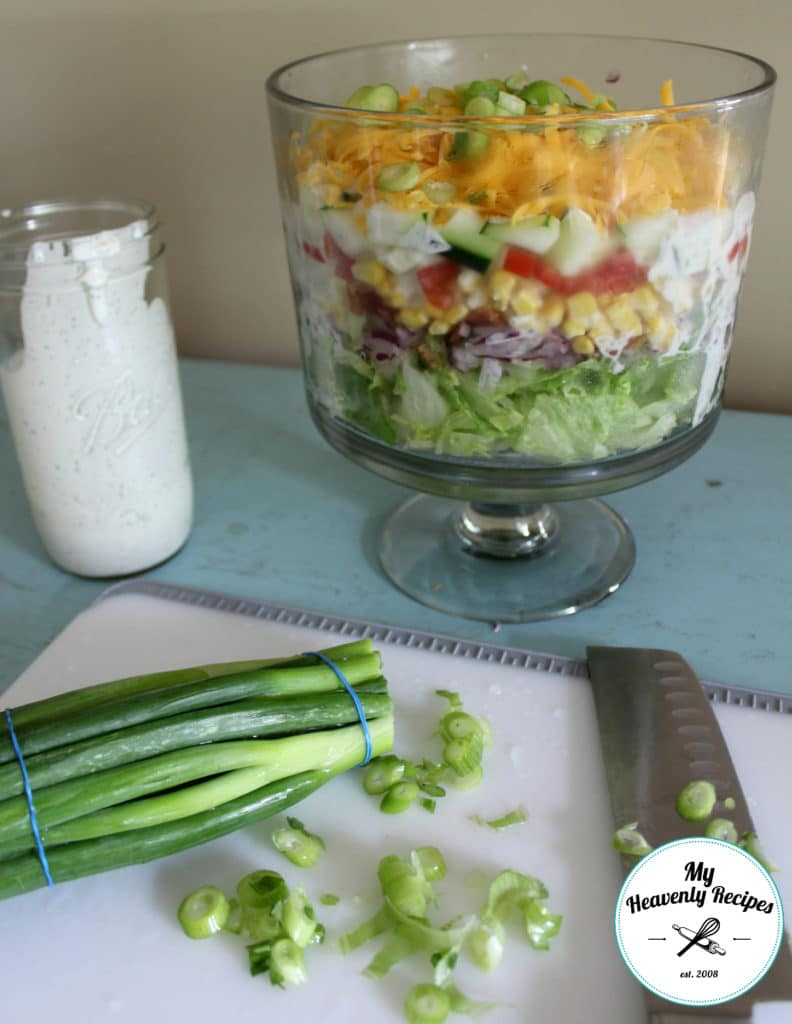 7 Layer Salad and Homemade Ranch Dressing