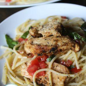 Chicken Bruschetta Pasta + Video