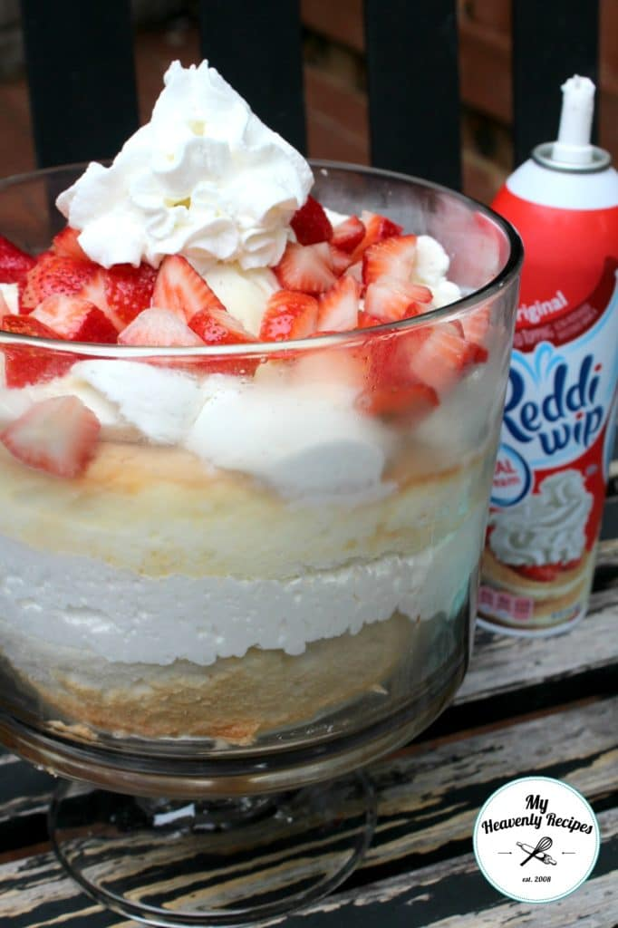 Strawberry Angel Food Cake with Vanilla Bean Ice Cream and Reddi-Whip ...