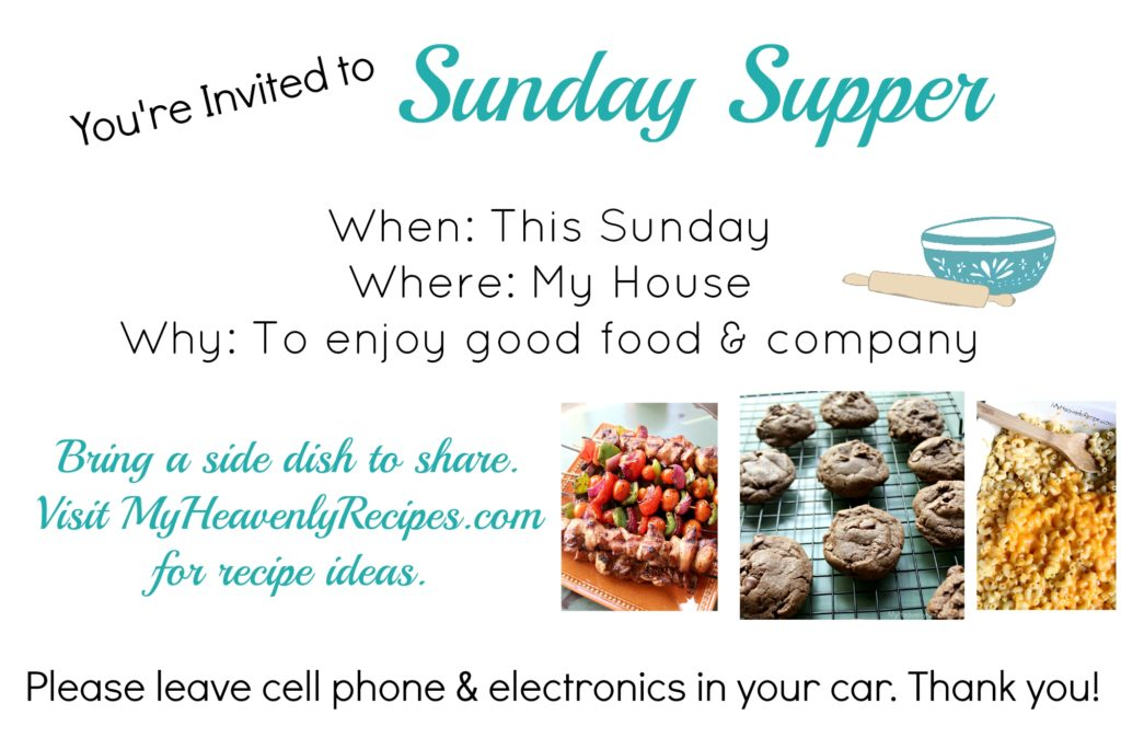 handmade Sunday Dinner Invitation