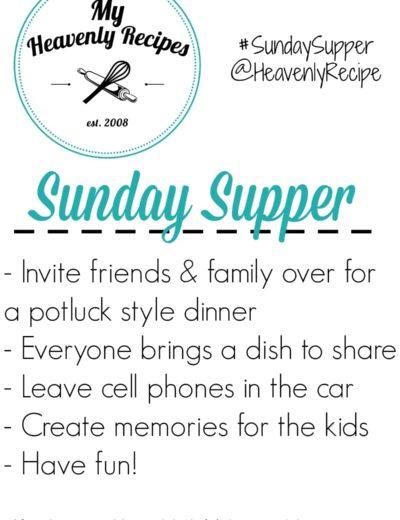 DIY Sunday dinner invitation