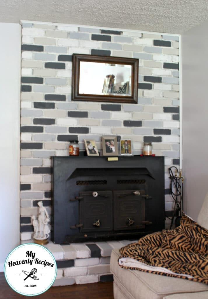 Chalk Paint Fireplace Makeover Final