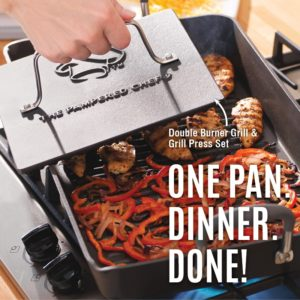 Double Burner Grill and Press Set