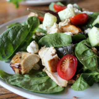 Grilled Chicken Salad with Goat Cheese