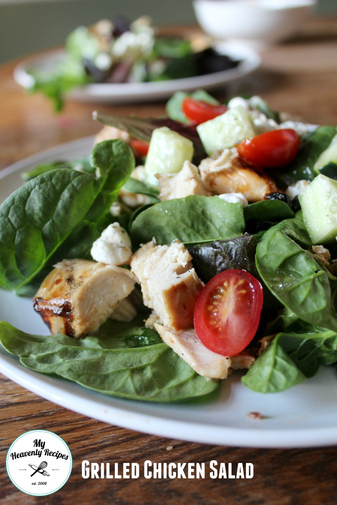 Grilled Chicken Salad with Goat Cheese - My Heavenly Recipes