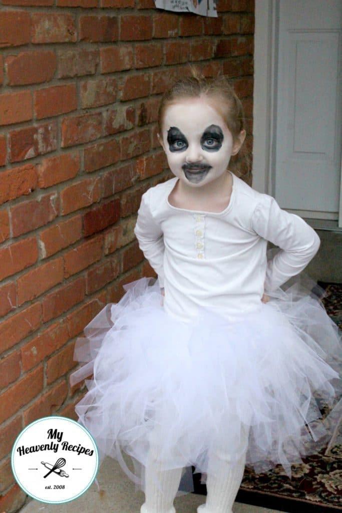 No Sew Tutu Ghost Costume