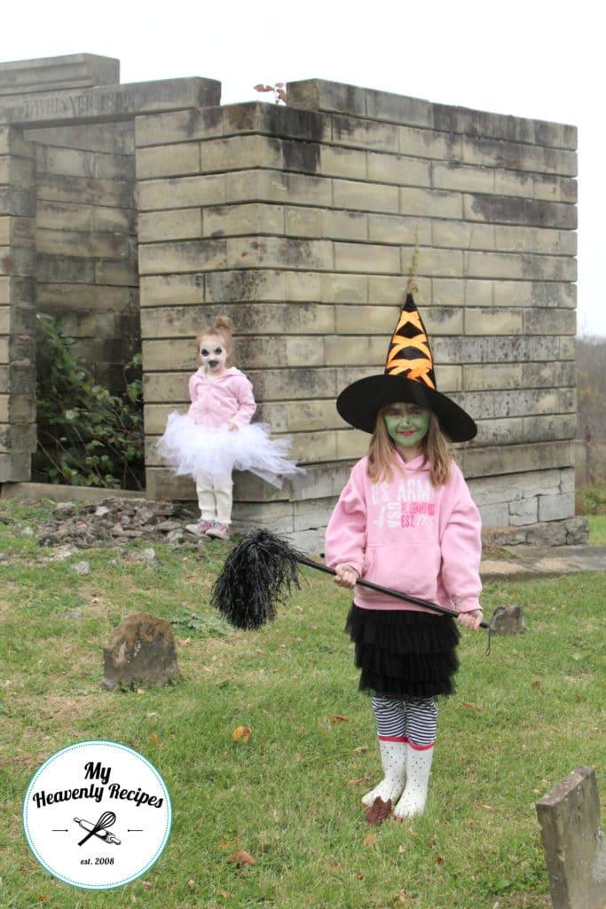 No Sew Tutu Ghost Costume Graveyard