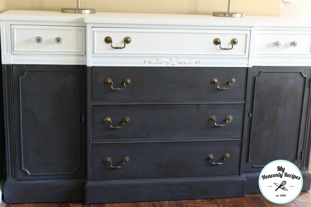 a beautiful antique farmhouse sideboard buffet DIY project