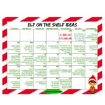 Elf on The Shelf Printable Calendar