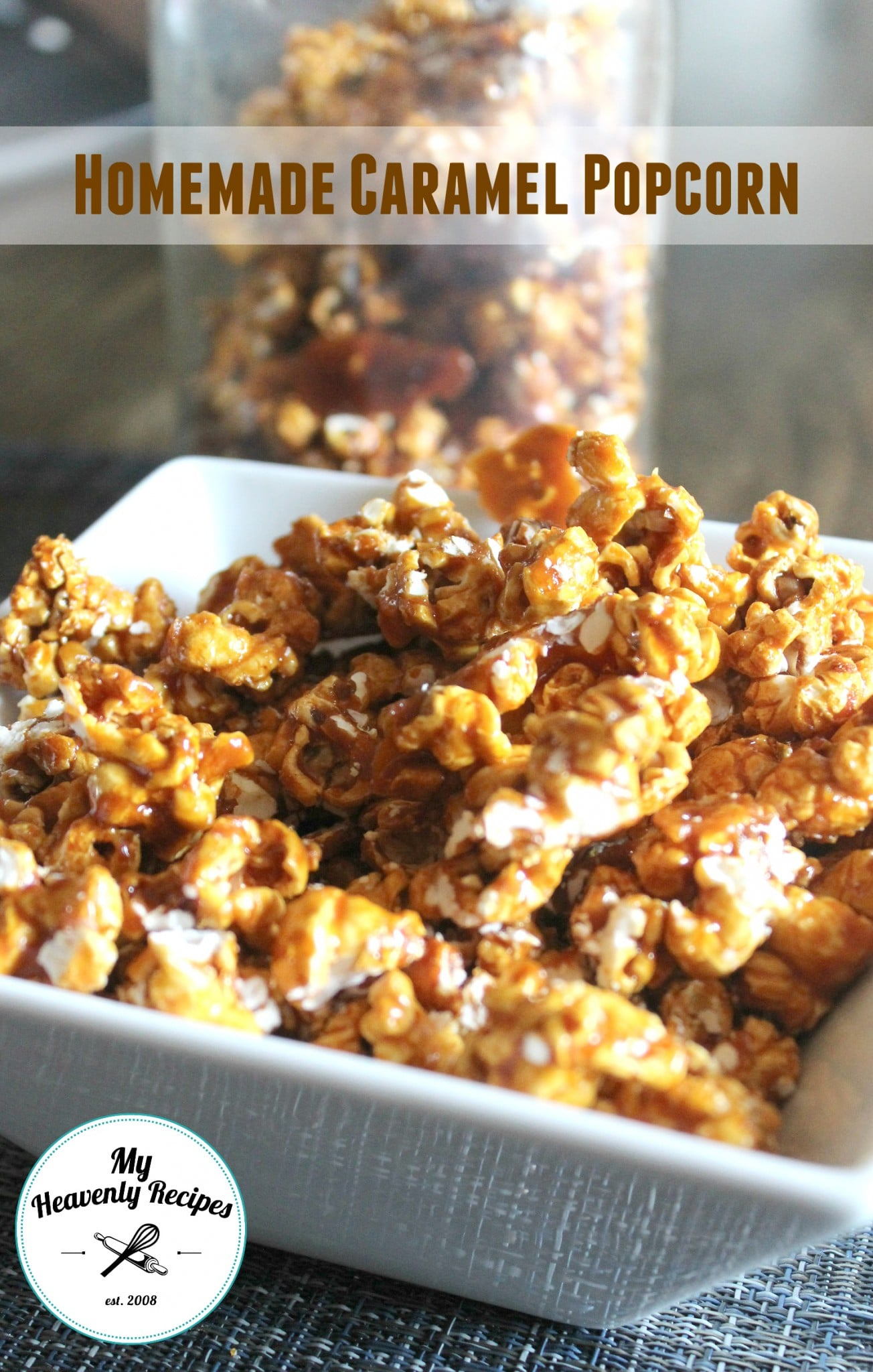 Homemade Caramel Popcorn Video My Heavenly Recipes