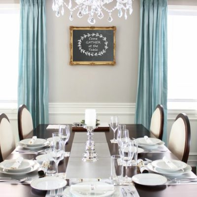 """dining room wall decor: that says """"Gather at the Table"""""""