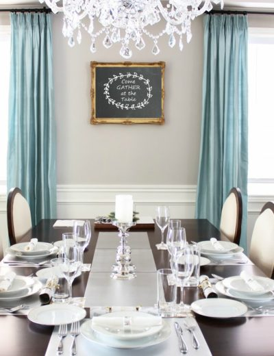 "dining room wall decor: that says ""Gather at the Table"""