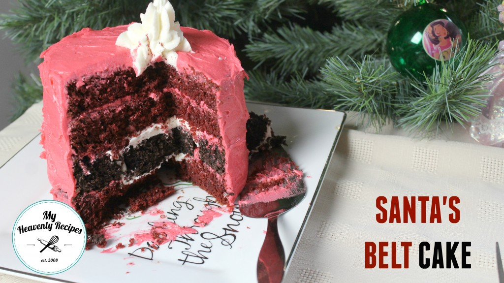 titled photo (and shown): Santa's belt cake