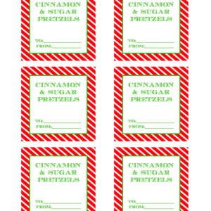 Printable Gift Tags for Cinnamon Sugar Pretzels