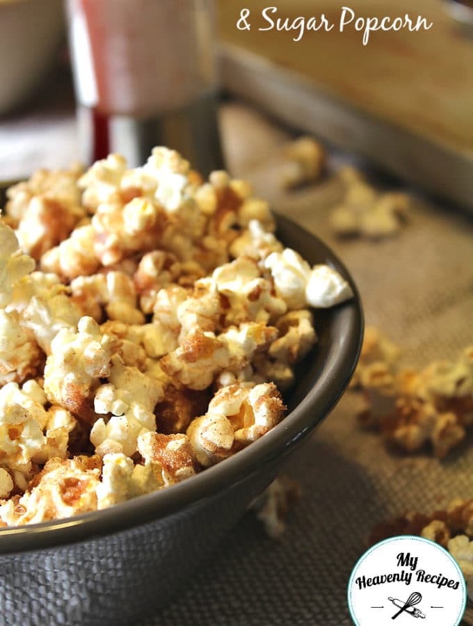 Cinnamon and Sugar Popcorn Vertical