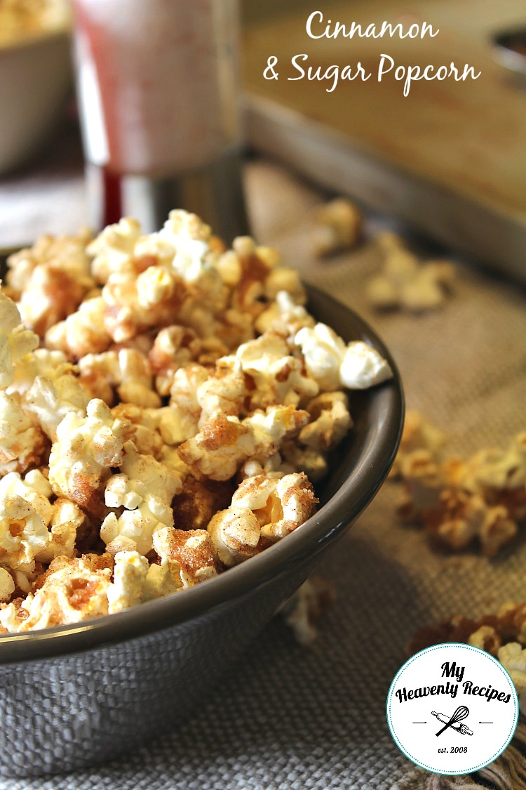 Cinnamon Sugar Popcorn Recipe + Video