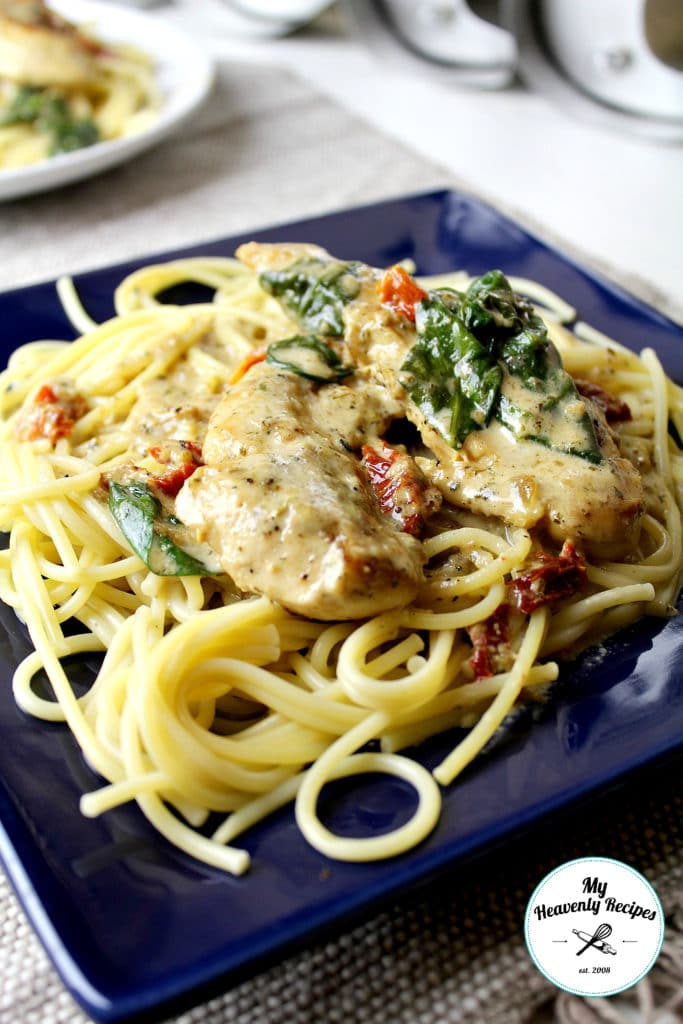 One Pot Creamy Chicken Tuscan Pasta