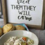 Chicken and Dumplings in the Crock Pot + Video