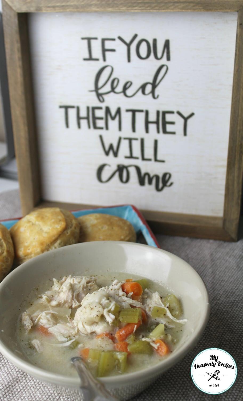 Chicken and dumplings in the crock pot video my for Crock pot thanksgiving dessert recipes