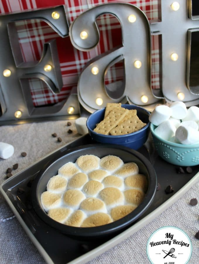 Surprise the kids with this easy smores dip recipe, it's made in the oven!