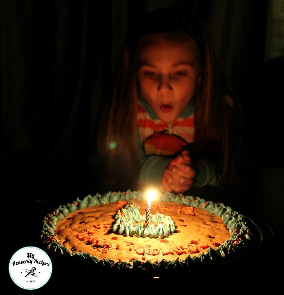 Beanies Homemade Chocolate Chip Cookie Cake Birthday