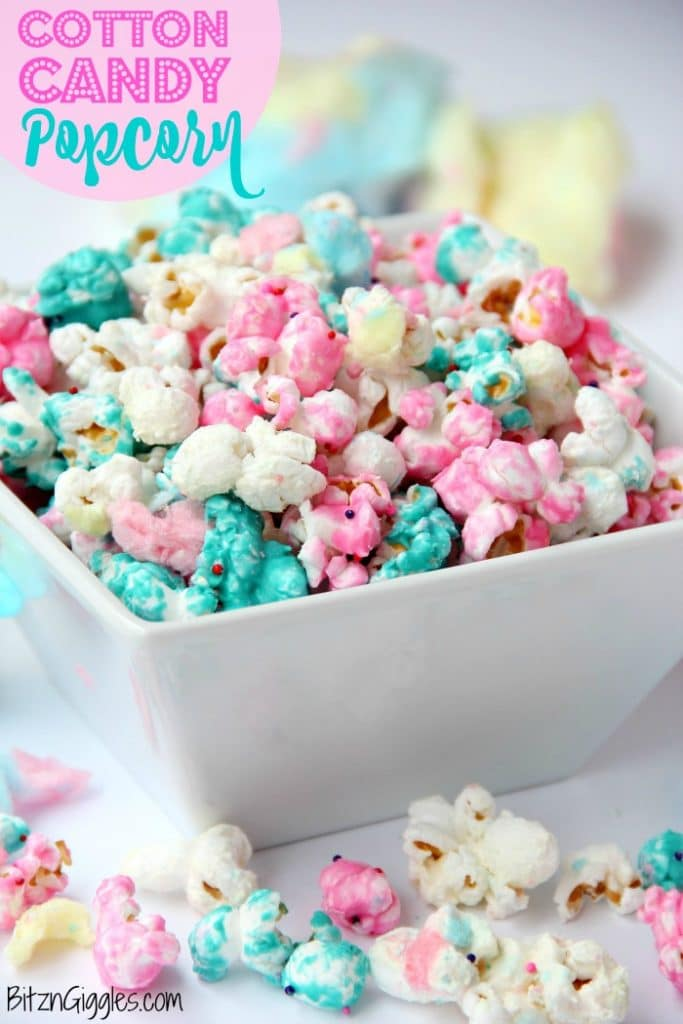 Cotton-Candy-flavored popcorn recipe
