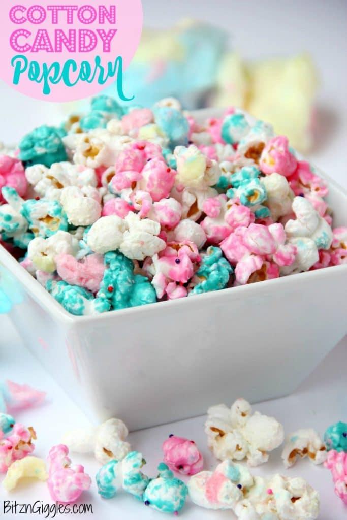 Cotton-Candy-flavored popcorn recipe
