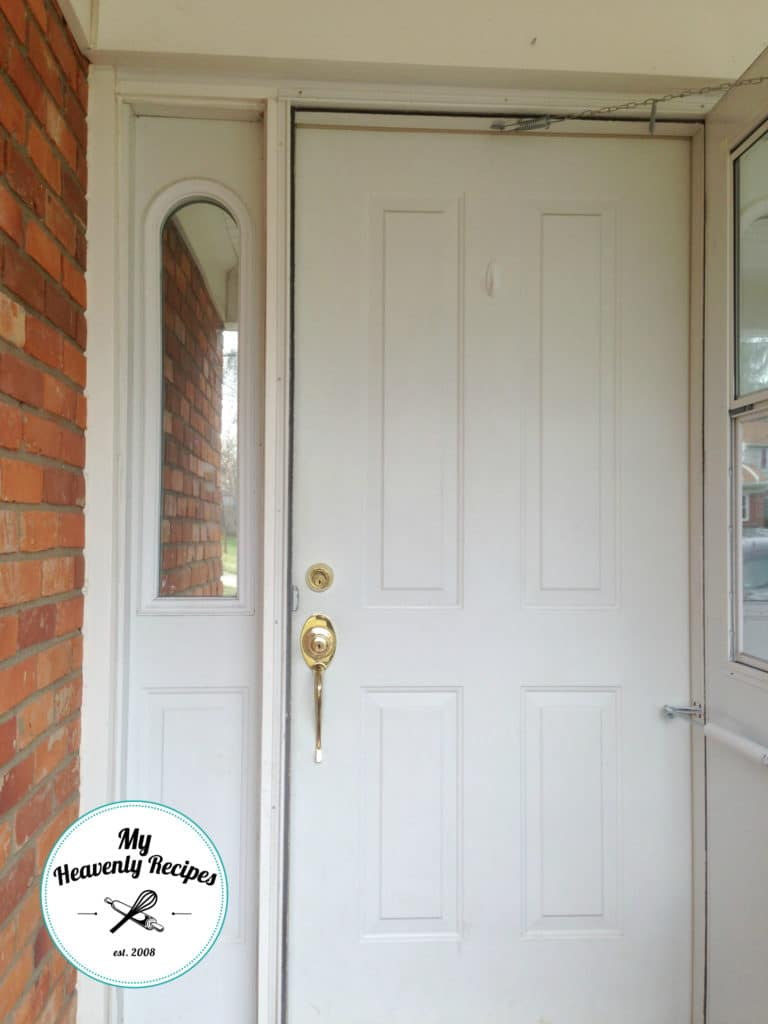 Front Door Makeover Before