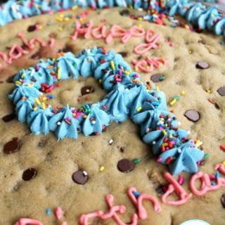 Homemade Chocolate Chip Cookie Cake + Video