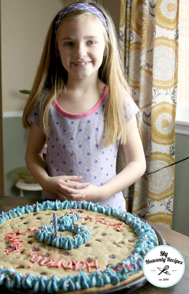 Homemade Chocolate Chip Cookie Cake Birthday