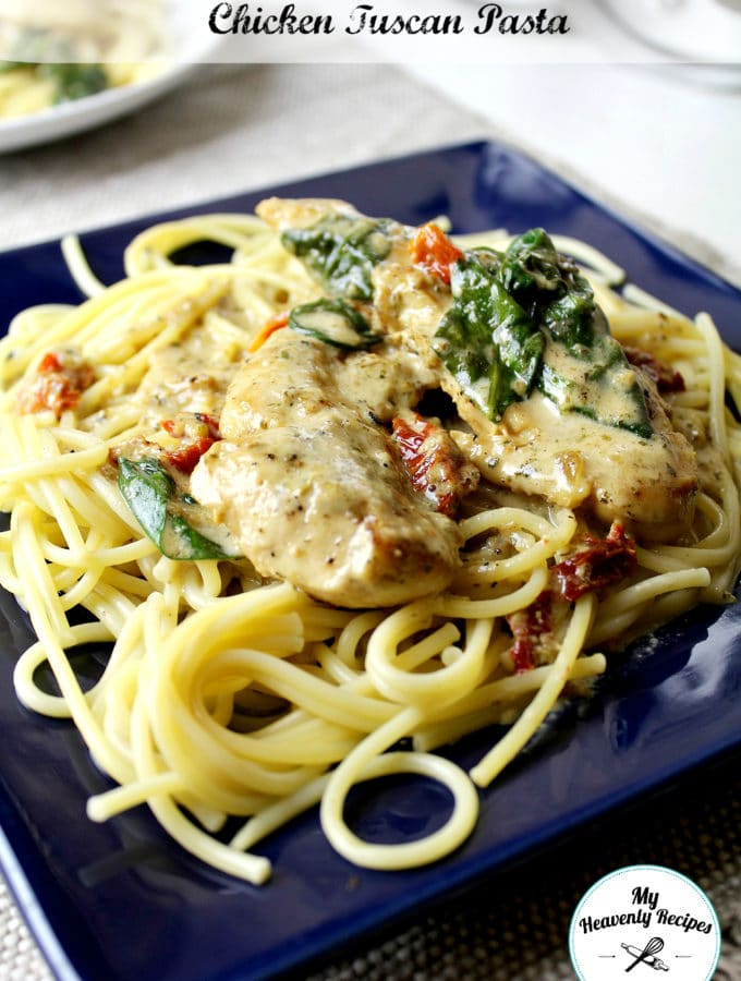 One Pot Creamy Chicken Tuscan Pasta Recipe Quick and Easy Chicken Recipe