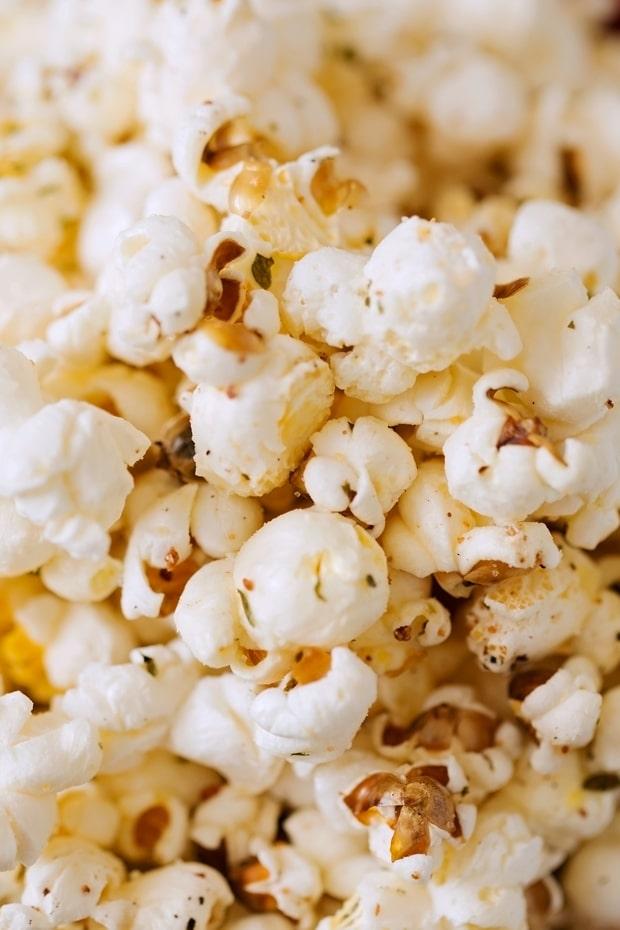 garlic parmesan flavored popcorn recipe