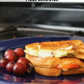 Grilled Margherita Pizza Sandwich