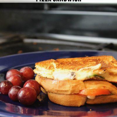 grilled margherita pizza sandwich