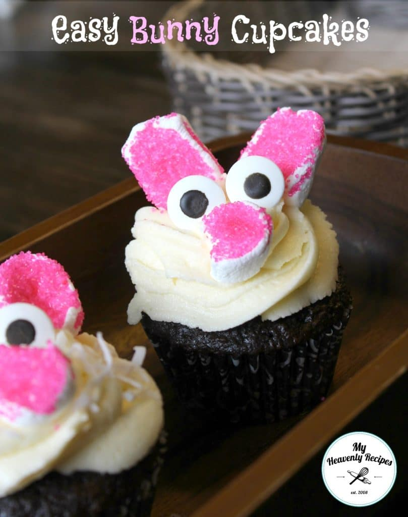 decorated Bunny Cupcakes (titled image and shown)